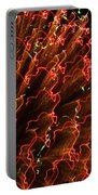 Fireball In The Sky Portable Battery Charger by Karen Wiles