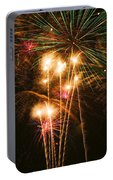Fireworks In Night Sky Portable Battery Charger