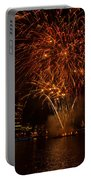 Fireworks On River Thames Portable Battery Charger
