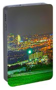 Fireworks Over The City Skyline Portable Battery Charger