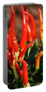 Firey Red Hot Chili Peppers Portable Battery Charger