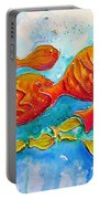 Fish Abstract Painting Portable Battery Charger