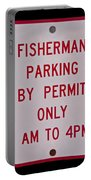 Fisherman Parking Sign Portable Battery Charger