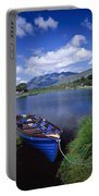 Fishing Boat On Upper Lake, Killarney Portable Battery Charger