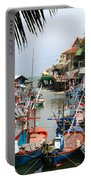Fishing Boats Portable Battery Charger by Adrian Evans