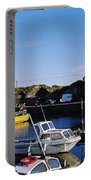 Fishing Boats At A Harbor, Slade Portable Battery Charger