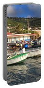 Fishing Boats In Frenchtown Portable Battery Charger