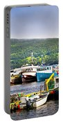 Fishing Boats In Newfoundland Portable Battery Charger