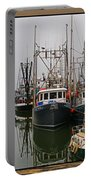 Fishing Boats In Steveston Group Photo Portable Battery Charger