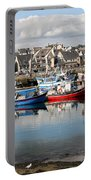 Fishing Boats In The Harbor Portable Battery Charger