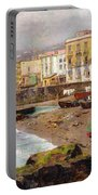 Fishing Boats On The Beach At Marinella Naples Portable Battery Charger