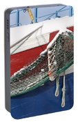 Fishing Vessel In Winter's Rest Portable Battery Charger