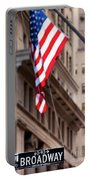 Flag On Broadway Portable Battery Charger