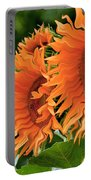 Flaming Sunflowers Portable Battery Charger