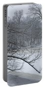 Flat River In Winter No.026 Portable Battery Charger