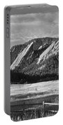 Flatirons From Chautauqua Park Bw Portable Battery Charger
