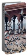 Flight Of Pigeons Inside The Jama Masjid In Delhi Portable Battery Charger