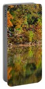 Floating Leaves In Tranquility Portable Battery Charger