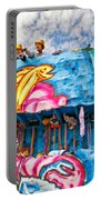 Floating Thru Mardi Gras Portable Battery Charger by Steve Harrington