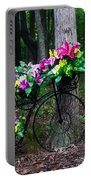 Floral Bicycle On A Cloudy Day Portable Battery Charger