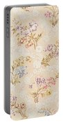 Floral Design With Peonies Lilies And Roses Portable Battery Charger by Anna Maria Garthwaite
