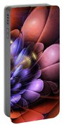 Floral Flame Portable Battery Charger