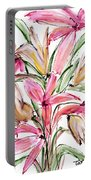 Floral Fourteen Portable Battery Charger