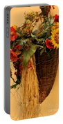 Floral Horn Of Plenty Portable Battery Charger