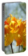 Floral Nature Art Print Oragen Rhodies Flowers Baslee Portable Battery Charger
