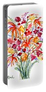 Floral Six Portable Battery Charger