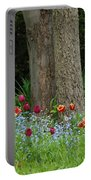 Floral Surrounding Portable Battery Charger