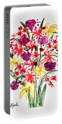 Floral Three Portable Battery Charger
