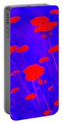 Flourescent Florals Portable Battery Charger