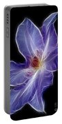 Flower - Clematis - Abstract Portable Battery Charger