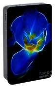 Flower - Coral Blue - Abstract Portable Battery Charger