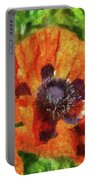Flower - Poppy - Orange Poppies  Portable Battery Charger
