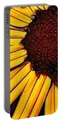 Flower - Yellow And Brown - Abstract Portable Battery Charger