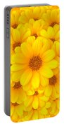 Flower Background Portable Battery Charger