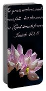 Flower Macro And Isaiah 40 8 Portable Battery Charger
