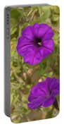 Flower Painting 0006 Portable Battery Charger