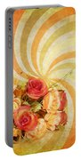 Flower Pattern Retro Style Portable Battery Charger