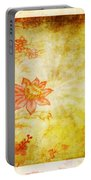 Flower Pattern Portable Battery Charger by Setsiri Silapasuwanchai