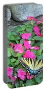 Butterfly And Flowers  Portable Battery Charger