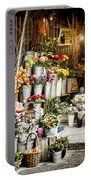 Flower Shop Portable Battery Charger