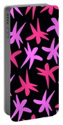 Flower Stars  Portable Battery Charger by Louisa Knight