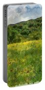 Flowering Fields Portable Battery Charger