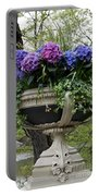 Flowerpot With Hydrangea Portable Battery Charger