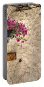 Flowers And A Signboard Portable Battery Charger