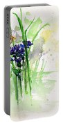 Flowers And Butterfly Portable Battery Charger
