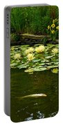 Flowers And Koi Portable Battery Charger